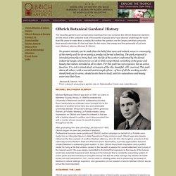 Detailed History Olbrich Botanical Gardens