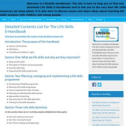 Detailed Contents List for The Life Skills E-Handbook - Lifeskills Handbooks