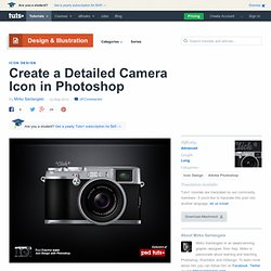Create a Detailed Camera Icon in Photoshop
