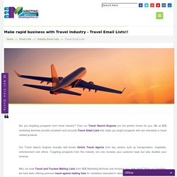 Detailed Travel Email Lists Provider
