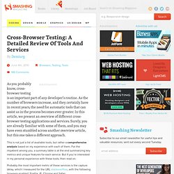 Cross-Browser Testing: A Detailed Review Of Tools And Services -