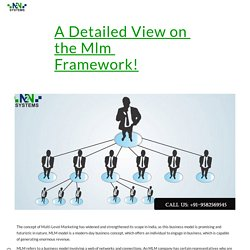 A Detailed View on the Mlm Framework!