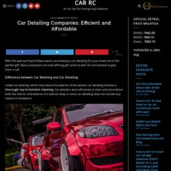 Car Detailing Companies: Efficient and Affordable