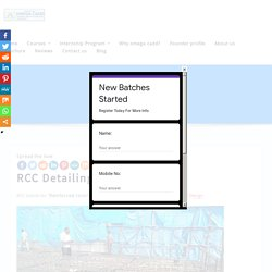 RCC Detailing Course Training in Hyderabad
