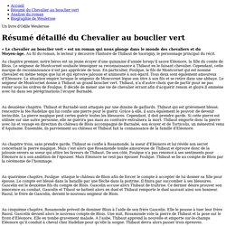 Résumé détaillé du Chevalier au bouclier vert - Le Chevalier au bouclier vert