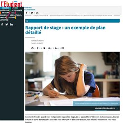 Rapport de stage : un exemple de plan détaillé - Letudiant.fr - L'Etudiant