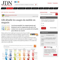 GfK détaille les usages du mobile en magasin