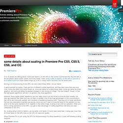 some details about scaling in Premiere Pro CS5, CS5.5, CS6, and CC