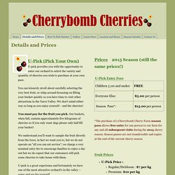 Details and Prices - Cherrybomb Cherries