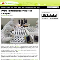 iPhone 5 details leaked by Foxconn employee?