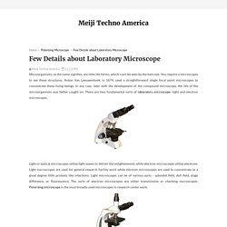 Few Details about Laboratory Microscope - Meiji Techno America