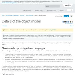 Details of the object model