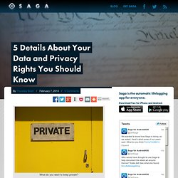 5 Details About Your Data and Privacy Rights You Should Know - GetSaga.com Blog