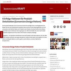 6 Erfolgs-Faktoren für Produkt-Detailseiten (Conversion Design Pattern)