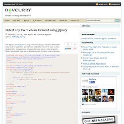 Detect any Event on an Element using jQuery
