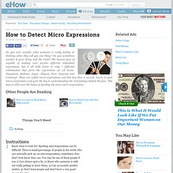 How to Detect Micro Expressions