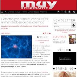 Detectan por primera vez galaxias alimentándose de gas cósmico