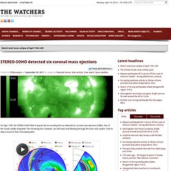 STEREO-SOHO detected six coronal mass ejections