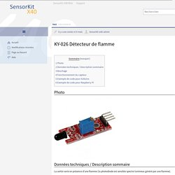 KY-026 Détecteur de flamme — SensorKit X40 Wiki