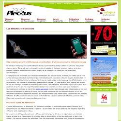 Les detecteurs d'ultrasons: Groupe de travail Chauve-souris de Natagora - association de protection de la nature