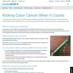 Detecting Colon Cancer Early