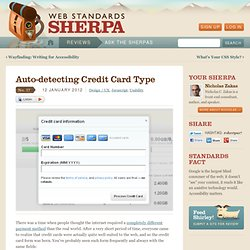 Auto-detecting Credit Card Type