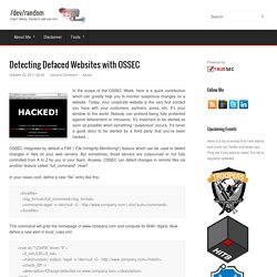 Detecting Defaced Websites with OSSEC
