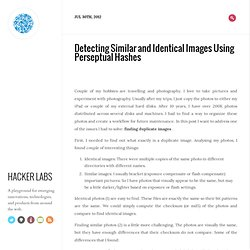 Detecting similar and identical images using perseptual hashes - Hacker Labs