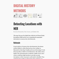 Detecting Locations with NER