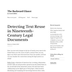 Detecting Text Reuse in Nineteenth-Century Legal Documents – The Backward Glance
