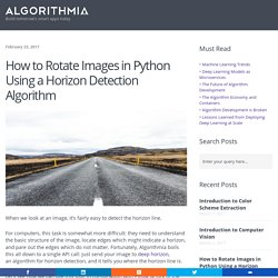 Rotate Images in Python Using a Horizon Detection Algorithm - Algorithmia