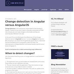 Change detection in Angular versus AngularJS - Code with style!