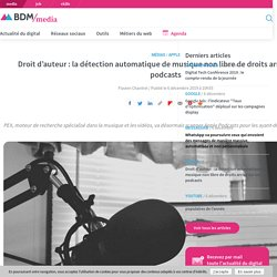 Droit d'auteur : la détection automatique de musique non libre de droits arrive sur les podcasts