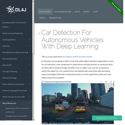 Car Detection For Autonomous Vehicles With Deep Learning