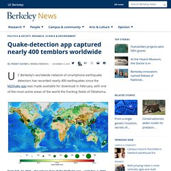 Quake-detection app captured nearly 400 temblors worldwide