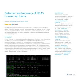 Detection and recovery of NSA's covered up tracks