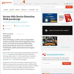 Server-Side Device Detection With JavaScript