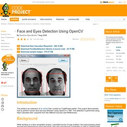 Face and Eyes Detection Using OpenCV