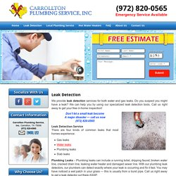 Leak Detection Service Carrollton, Plano, and Frisco