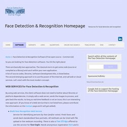 Face Detection Software Facial Recognition Open Source Code API SDK Login