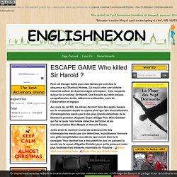 Detective Escape Game Murder Crime Sherlock Holmes