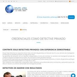 Credenciales de Detectives privados en España.