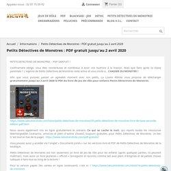 Livre-jeu les Petits Détectives de Monstres : PDF gratuit jusqu'au 2 avril 2020
