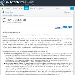 RunPE Detector - Phrozen Software