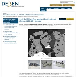 BSE detector for scanning electron microscope (SEM)