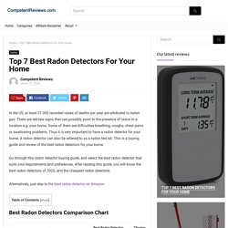 Top 7 Best Radon Detectors For Your Home - CompetentReviews