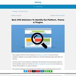 Best CMS Detectors To Identify the Platform, WordPress Theme & Plugins