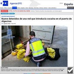 Nueve detenidos de una red que introducía cocaína en el puerto de Algeciras