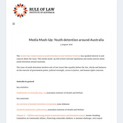 Youth detention around Australia: Media Mash-Up: Rule of Law Institute of Australia