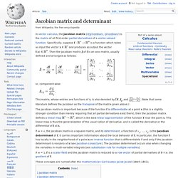 Jacobian matrix and determinant